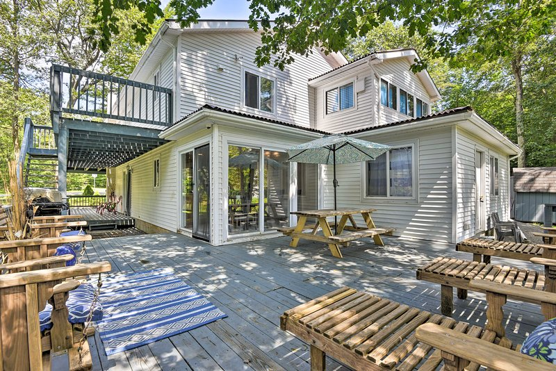 There are over 1,500-square-feet of decks surrounding the vacation rental home!