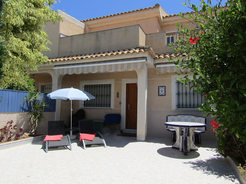 Spacious terrace and balcony with views over the Mar Menor.