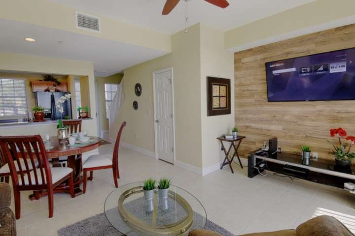 Open Floor Plan with Easy Access to Kitchen, Dining & Living Areas