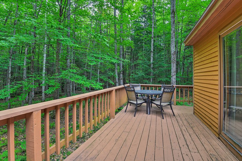 Take in the natural scenery from the private porch.
