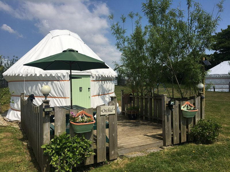 Orchid Yurt, holiday rental in St Newlyn East