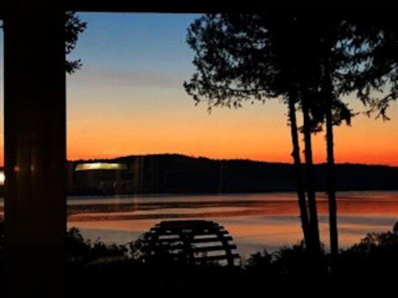 Gorgeous evening sunsets overlooking coastal Islands