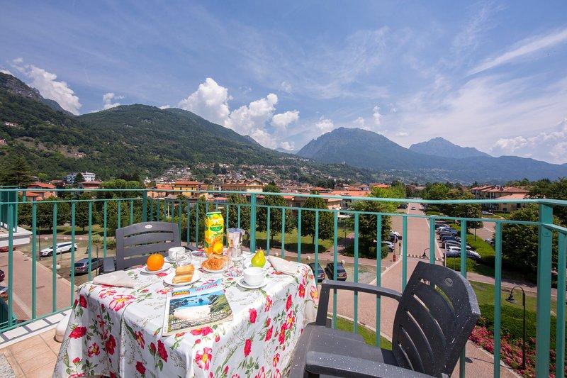 Balcone privato con vista sulle montagne