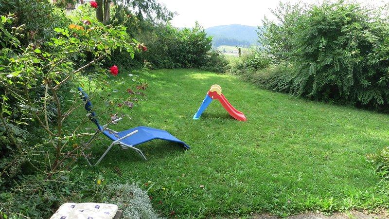 Área para jugar y tomar el sol