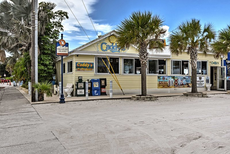 Caddy's on the Beach is literally a 2-minute walk from the property!