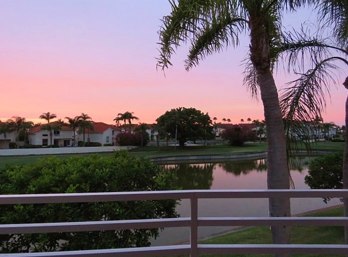 Beautiful Sunset from the Balcony