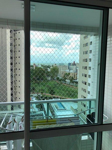 Vista dal balcone dell'appartamento