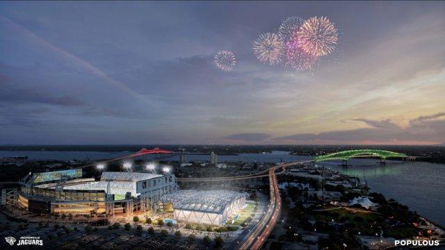 Estadio de los Jaguares, el Anfiteatro Daily y el centro de Jacksonville a solo 15 millas de distancia