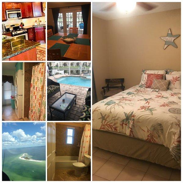 Beautiful Pool / Spa Home 2 Schlafzimmer 2 Badezimmer mit Waschmaschine und Trockner wi / fi in home Fisch vor dem Dock