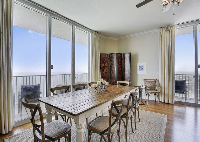 Dining Area with view of the Gulf