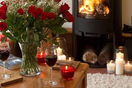Owl's Hoot fireplace.