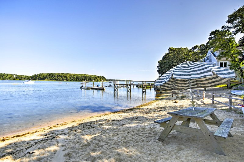 Spend a calm day on the sandy shores of the nearby community beach park.