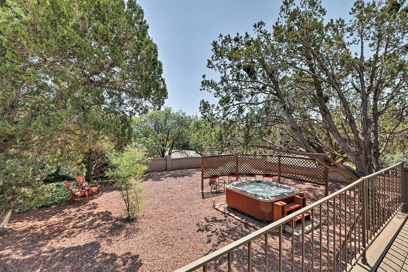 The property boasts a private 6-person hot tub!