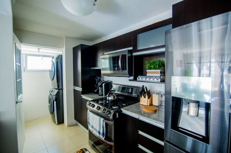 Beautiful Black stainless steel appliances