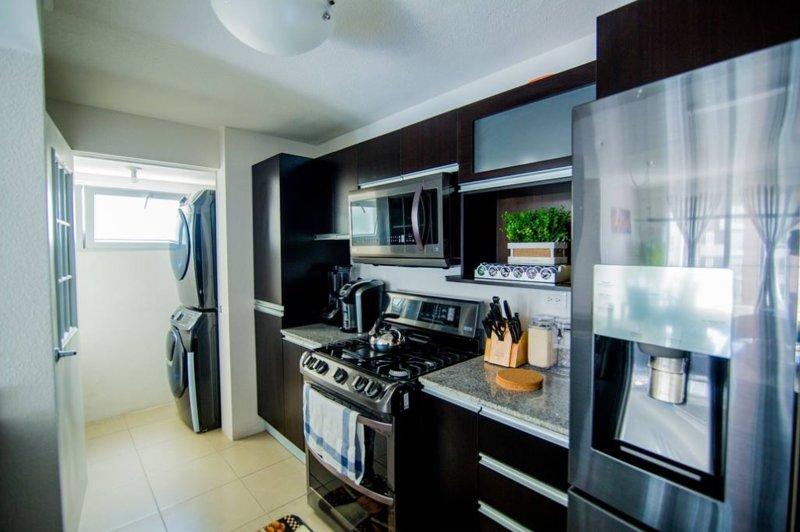 Beautiful Black stainless steel appliances
