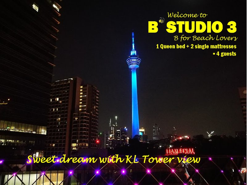 Sweet dream with KL Tower view:)