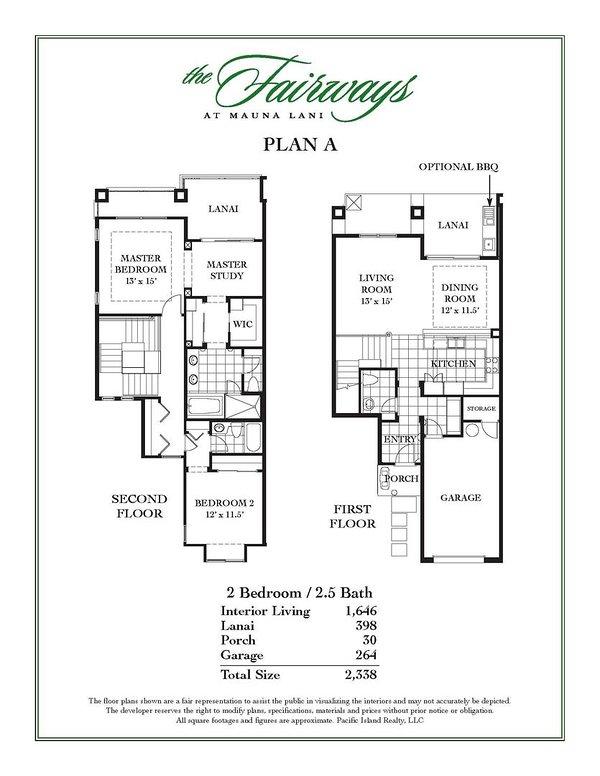 Mauna Lani Fairways #803 - Floor Plan