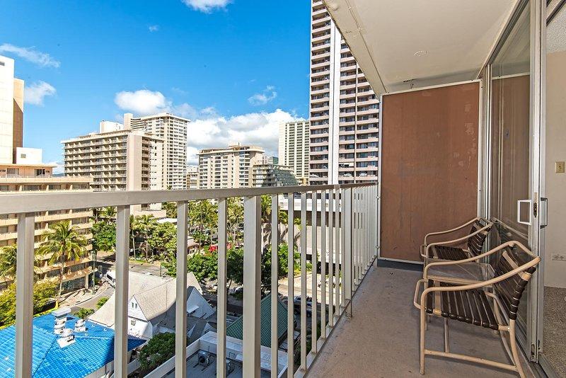 Marine Surf Waikiki 908 - Lanai Patio Sitzgelegenheiten