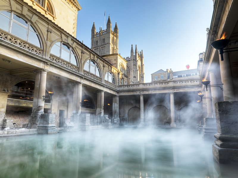 The Roman Baths - top of the 'to see' list in the city