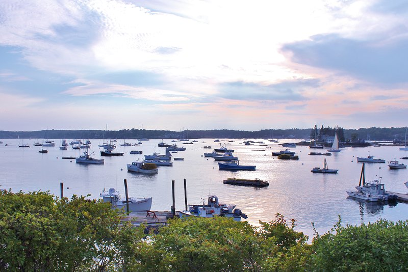 The beautiful working waterfront of Boothbay Harbor