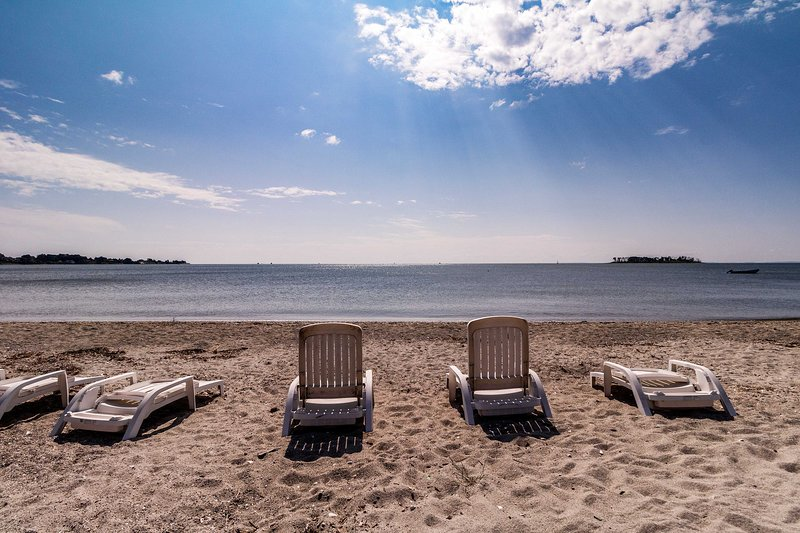 Endless days on a sandy, private beach await up to 7 guests.
