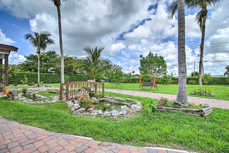 Fall in love with Florida as you stay at this vibrant bungalow!