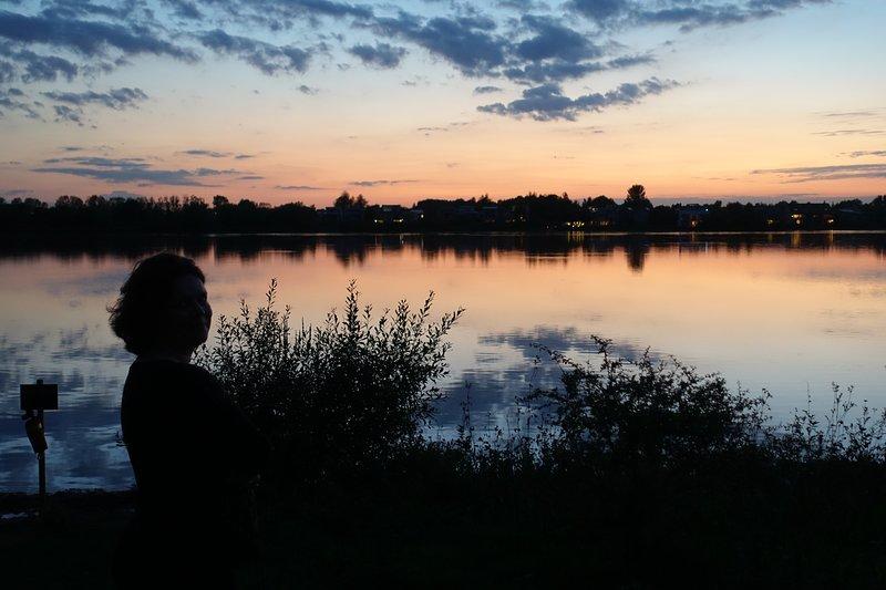 Sunset at #SomerfordLagoon  - around 5 mins walk from Cornerstone Cottage