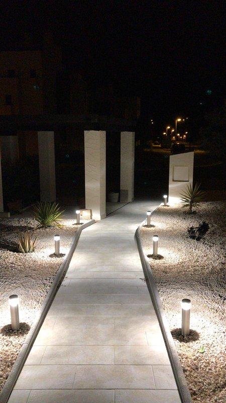 front pathway villa