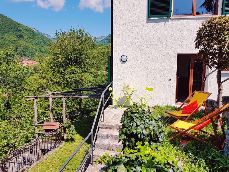 Lägenhet med direkt tillgång till trädgården