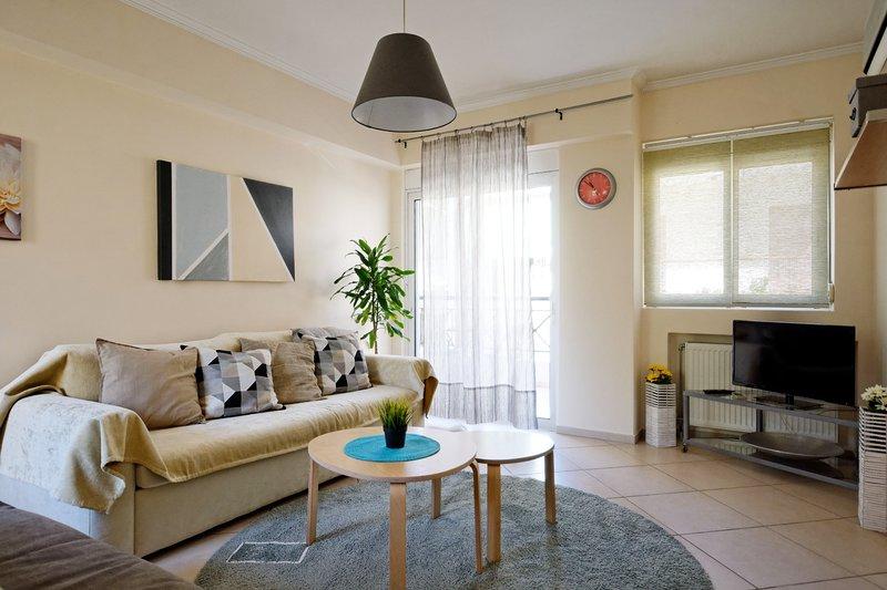 Brand new apartment near metro Station, holiday rental in Agios Dimitrios