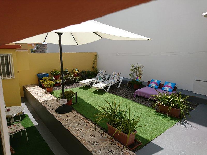 Amplia terraza privada