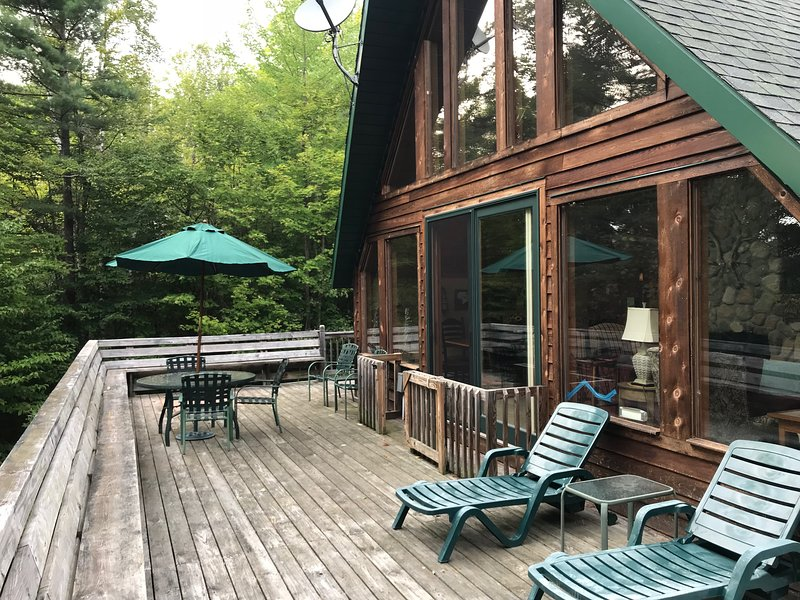Enjoy the mountains on 1100 sq. ft. of deck with seating
