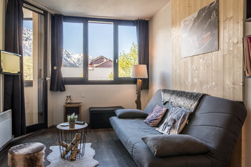 Apartment with a view of the Mont Blanc massif
