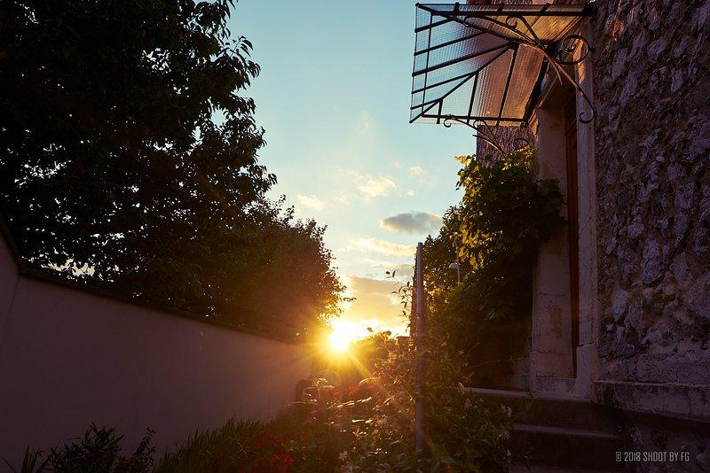 100% puesta de sol