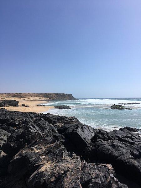 The nearest beach is a 10 minute walk.