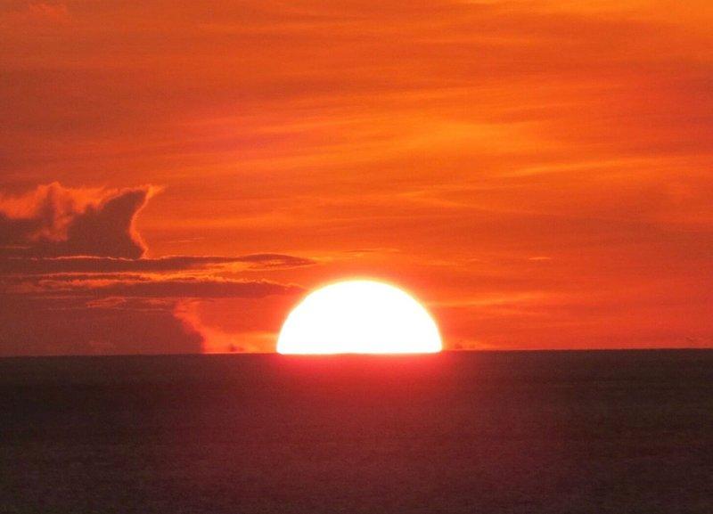 Vue coucher de soleil depuis la terrasse