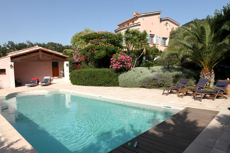 Vineyard Villa with heated pool and seaview, vacation rental in Le Pradet