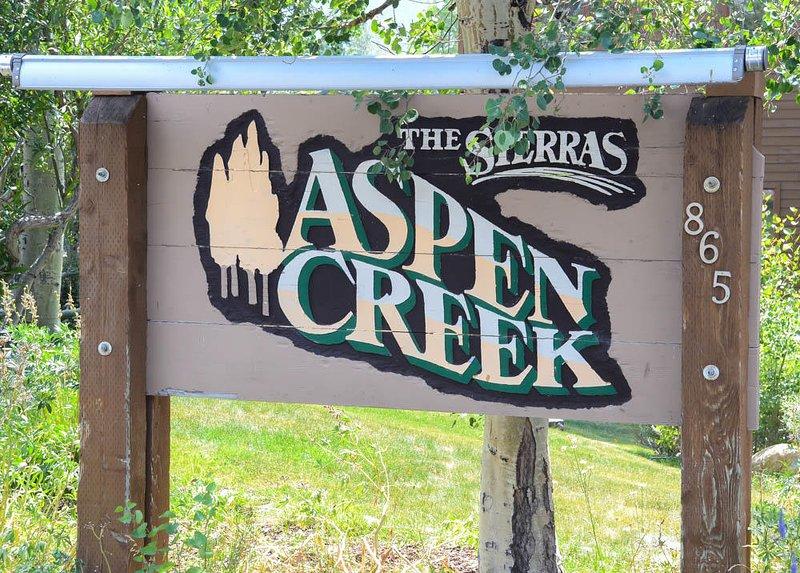 Aspen Creek #123 - Aspen Creek Welcome Sign