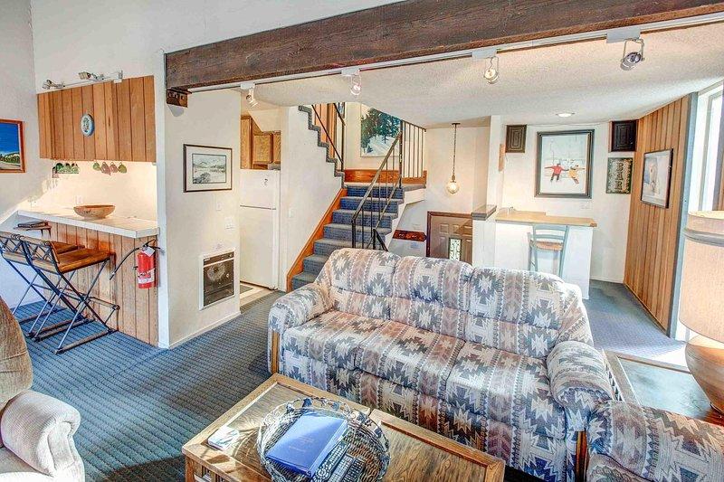 Chamonix #096 - Open floor plan living room and kitchen