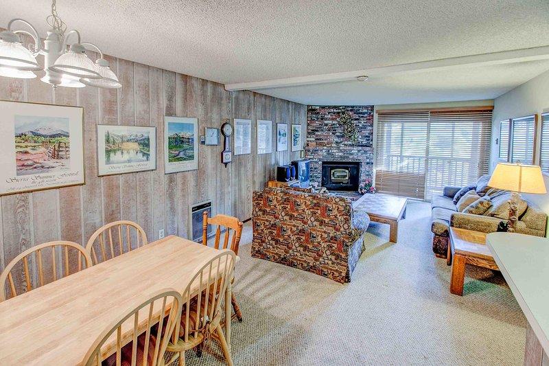 Chamonix #025            - Living room with fireplace