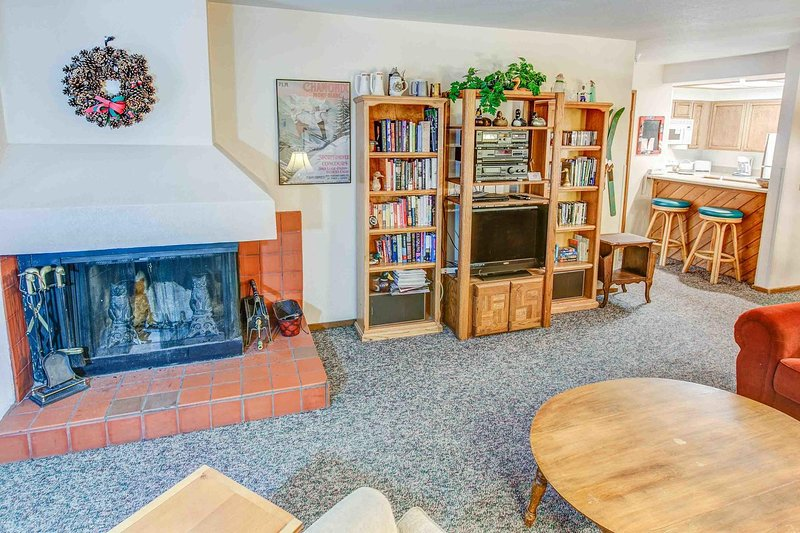 Aspen Creek #119         - Living Room with Fireplace