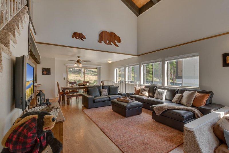 The Knotty Bear - Living room open floor plan