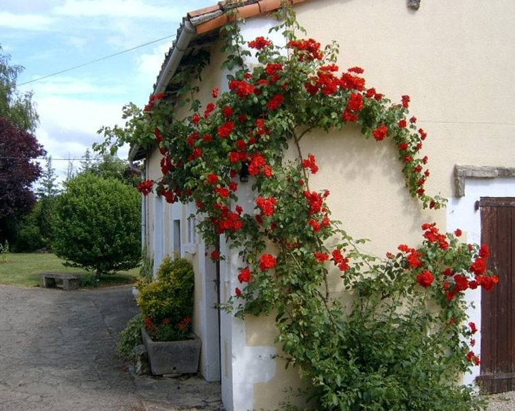 La Rose at La Châtaigne Gites, 2 Bedrooms with shared pool, vacation rental in Limalonges