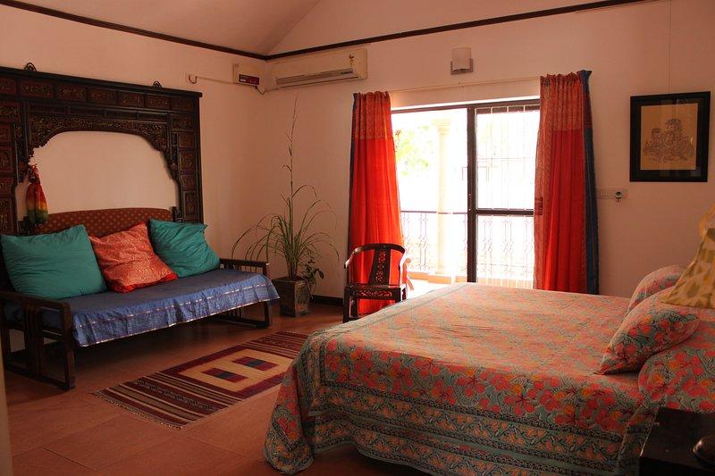 Courtyard Bedroom (Bedroom 2), holiday rental in Poovar