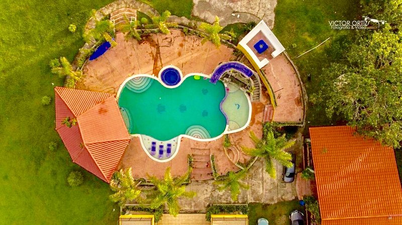 Amazing aerial view of the pools area, bar and the Passel u Na