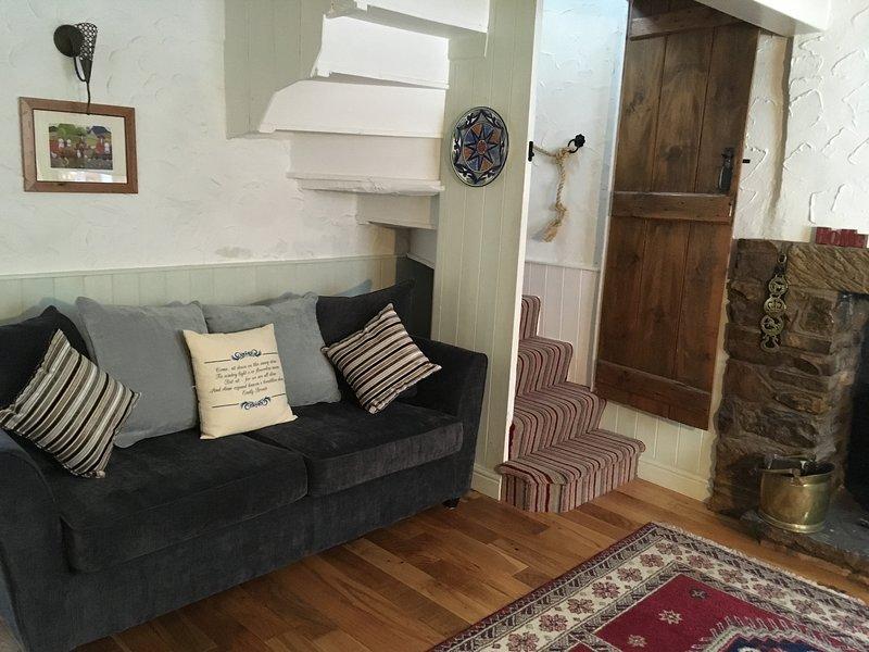 Lounge, wooden floors, beams, lots of original features