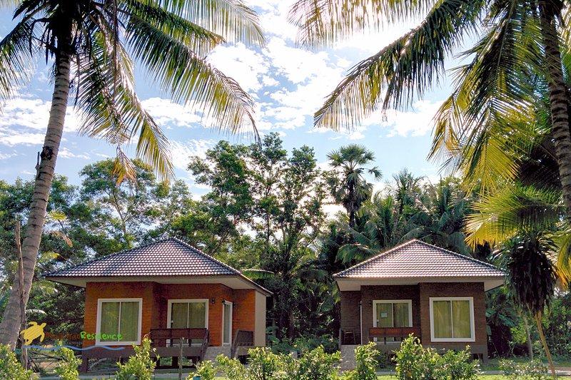 bungalows at Mai Khao Beach.