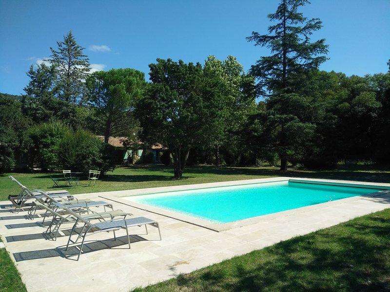 Maison 10 pers. Luberon + grande piscine + 7000m², holiday rental in Castellet