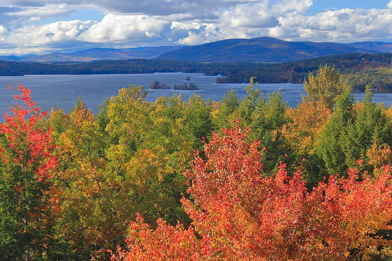 Come see beautiful Lake Winnipesaukee in NH in all it's Autumn glory!