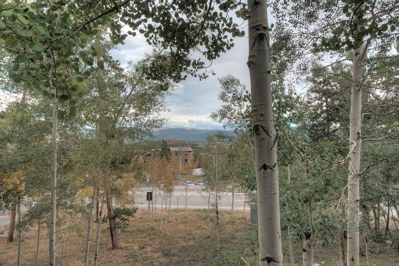 Expansive mountain views from the back deck